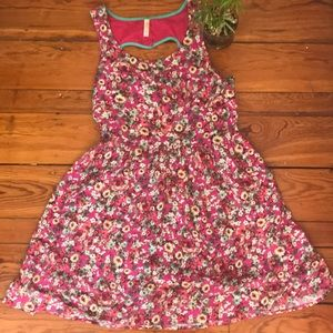 Xhiliration floral print dress Medium